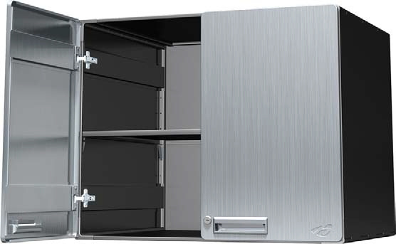 Stainless Steel Powder Coated Metal, 24 Inch Deep Storage Cabinets